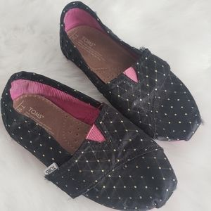 Tiny Tom's T10 Black and Pink Slip on Shoes